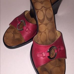 Coach - Sexy pink wedge step in heel.